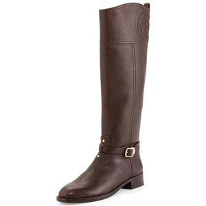 BTW Tory Burch Marlene Riding Boot-Tumbled Leather
